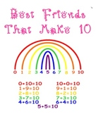 Best Friends that Make 10 Printable Rainbow - Common Core