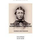 Best Quotations of Henry David Thoreau