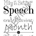 Better Speech and Hearing Month Subway Art