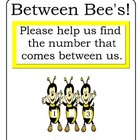 Between Bee's!  Numbers that comes Between File Folder Game