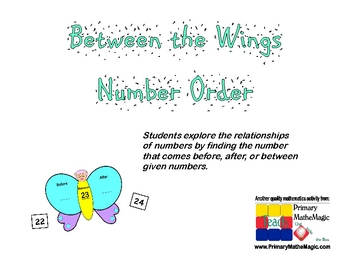 Between the Wings:  Number Order