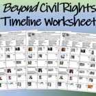 Beyond Civil Rights Timeline Worksheet