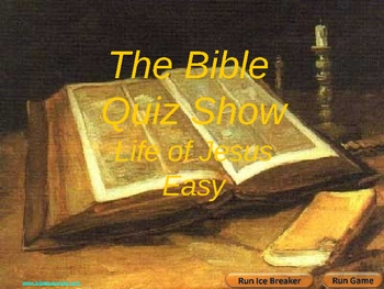 Bible Quiz Show Life Of Jesus Easy