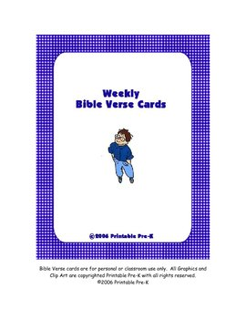 Bible Verse Cards for Memory Work in Black/White