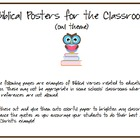 Bible Verse Posters for the Classroom