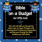 Bible on a Budget - Once-a-week lessons, activities &amp; art 