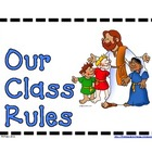 Biblical Classroom Rules Posters