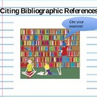 Bibliography Practice POWERPOINT - Create a Book List for 