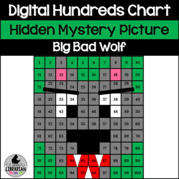 Big Bad Wolf Hundreds Chart Hidden Picture Activity for Math