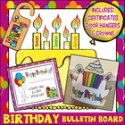 Big Birthday Bear Bulletin Board Set Plus Bookmarks/Certificates