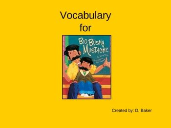 Big Bushy Mustache Vocabulary Houghton Mifflin Series