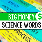 Big Money Words Science Word Wall