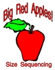 Big Red Apples Size Order Game  Pre-K learning game