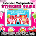 Big Top Circus Extended Multiplication SMART BOARD Game -