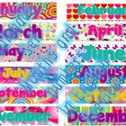Bilingual Calendar set (months and calendar numbers in Eng