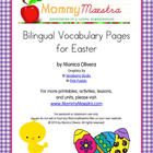 Bilingual Easter Vocabulary Pages