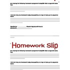 Bilingual Homework Slip