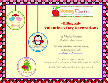 Bilingual Valentine's Decorations