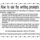 Bilingual Writing Prompts for Narrative, Expository, and P