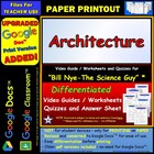 Bill Nye - Architecture – Worksheet, Answer Sheet, and Two