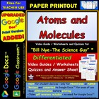 Bill Nye - Atoms and Molecules Worksheet, Answer Sheet,