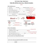 Bill Nye - Blood and Circulation. Video worksheet: Fun + K