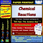 Bill Nye - Chemical Reactions – Worksheet, Answer Sheet, a