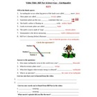 Bill Nye - Earthquakes. Video worksheet: Fun + Knowledge!