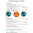 Bill Nye - Earth's Seasons. Video worksheet: Fun + Knowledge!
