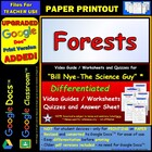 Bill Nye - Forests – Worksheet, Answer Sheet, and Two Quizzes.