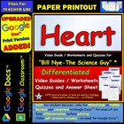 Bill Nye - Heart – Worksheet, Answer Sheet, and Two Quizzes.