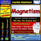Bill Nye - Magnetism  Two Quizzes, Worksheet, and Answe