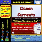 Bill Nye - Ocean Currents  Worksheet, Answer Sheet, and