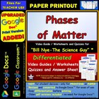 Bill Nye - Phases of Matter – Worksheet, Answer Sheet, and