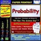 Bill Nye - Probability – Worksheet, Answer Sheet, and Two