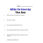 Bill Nye Questions-THE SUN-14Q's and answer key