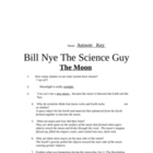 Bill Nye Questions-The Moon- 20Q's, science student KARAOK