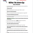 Bill Nye Questions- The Planets 13Q&#039;s with key-(TRY IT dem