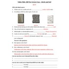 Bill Nye - Rocks and Soil. Video worksheet: Fun + Knowledge!