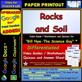 Bill Nye - Rocks and Soil – Worksheet, Answer Sheet, and T