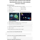 Bill Nye - Space Exploration. Classroom Video Review Worksheet