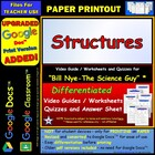 Bill Nye - Structures  Worksheet, Answer Sheet, and Two