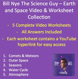 Bill Nye Video Worksheets (FIVE) - Earth and Space Workshe