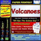 Bill Nye - Volcanoes  Worksheet, Answer Sheet, and Two 