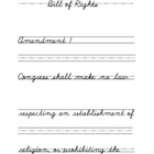 Bill of Rights Cursive Copywork
