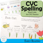 Billy Bee's CVC Word Links (Spelling and Vocabulary Word Ladders)