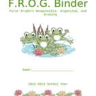 Binder Cover - Frog Theme