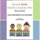 Binder Cover with Color Coded Dividers for Second Grade La