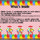 Binder Cover/Spines Candy Theme