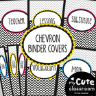 Binder Covers - Black and White Chevron - Editable Included
